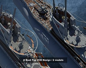 U-Boot Typ VIID Design 3D model typ
