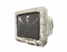 3D asset realtime old crt monitor