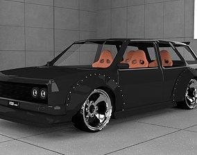 Modified Datsun 510 Wagon 3D