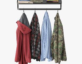 3D Wall coat rack