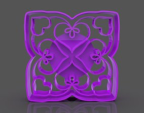 3D print model Romantic Hearts Cookie Cutter