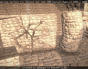 3D model Cracked Sandstone Surface -1- Texture Set -46-