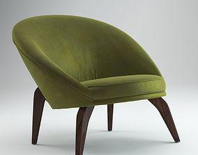 Jean Royere Green Chair 3D