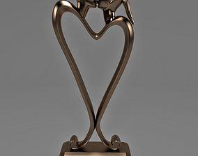 The Kiss in Bronze 3D model