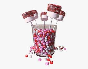 Valentines Marshmallow Pops 3D