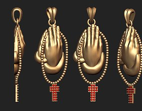 Praying Hand Pendant pray 3D print model