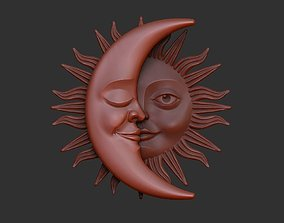 Sun and Moon Pendants 3D model