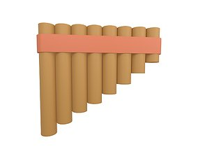 Pai Flute v1 002 3D model