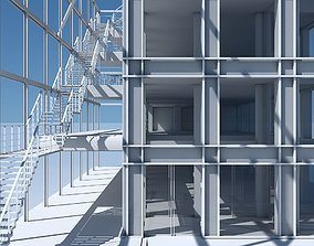 Commercial Building Facade 08 3D model
