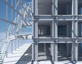 Commercial Building Facade 08 3D model