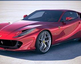 3D Ferrari 812 Superfast 2018