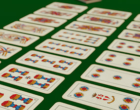Italian playing cards 3D model animated
