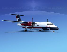 3D model Dehaviland DHC-8 100 Texair