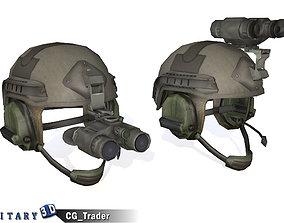 VR / AR ready Military Night Vision Helmet Lowpoly 3d