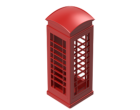 Red Phone Booth 3D print model