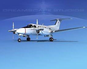 Beechcraft UC-12Q Huron V12 US GOV 3D