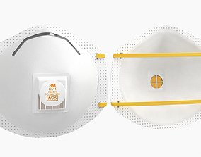 Mask Particulate Respirator 8511 3D model