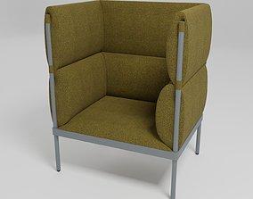 STILIT - High-back fabric armchair - 3D