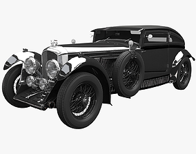 Bentley Blue train Black 3D model