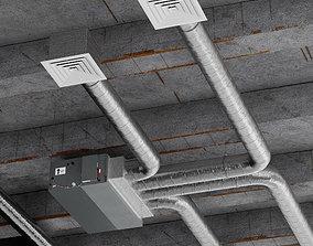 ceiling ventilation system 3D