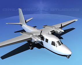 Aero Commander 560 Bare Metal 3D model