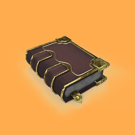 Magical Book Free low-poly 3D model