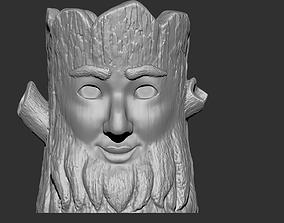Fantasy tree flower pot var2 3D print model
