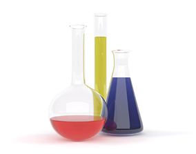 Chemical Flasks equipment 3D model