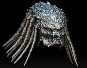 Assassin predator head with dreads 3D