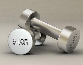 Gym dumbbell fitness 3D model PBR
