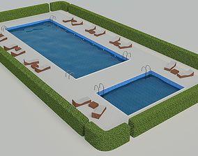 3D Swimming Pool Scene