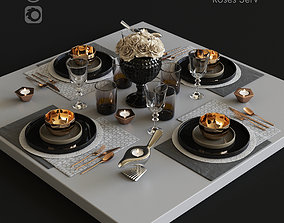 3D model Serving with roses