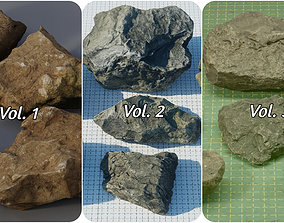 Rock Pack Vol 1-3 3D asset realtime