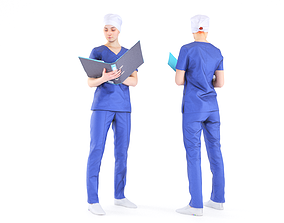 Surgical nurse 16 3D model