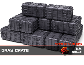 Star Wars Gray Crate 1-6 scale 3D print model