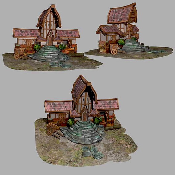 Medieval Village Nobleman House