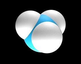 Ammonia molecule 3D asset
