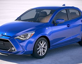 3D model Toyota Yaris Hatchback US 2020