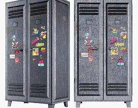 3D model Metal locker door