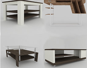 Collection of modern tables 3D asset