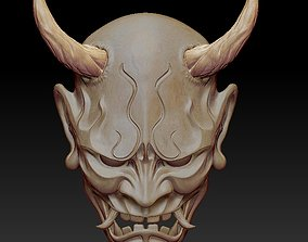 ONI Mask 3D print model horns
