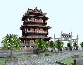 3D model The Tengwangge Tower