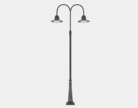 Double Arm Lamp Post 3D model