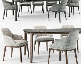 3D Poliform Sophie armchair Henry table set