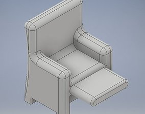 3D printable model armchair