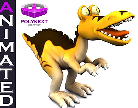 Cartoon Tyrannosaurus 3D model