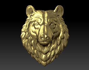 bear head beast 3D printable model