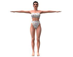 women swimsuit louis vuitton 1 3D model
