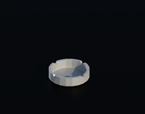 3D model ashtray 01