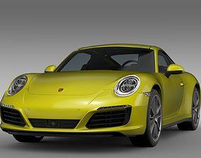 Porsche 911 Carrera 4 Coupe 991 2016 3D